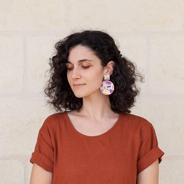 RITA / PORCELAIN EARRINGS