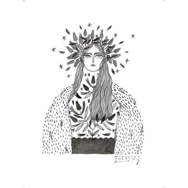 ALEXANDRA / Inktober print