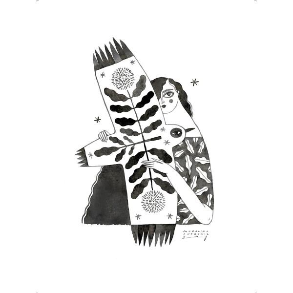 LEONORA / Inktober print