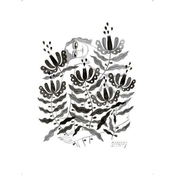 MINA / Inktober print