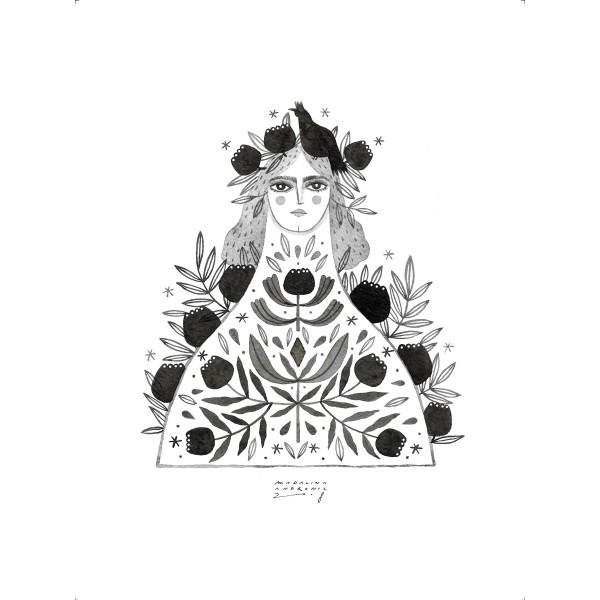 BETINA / Inktober print