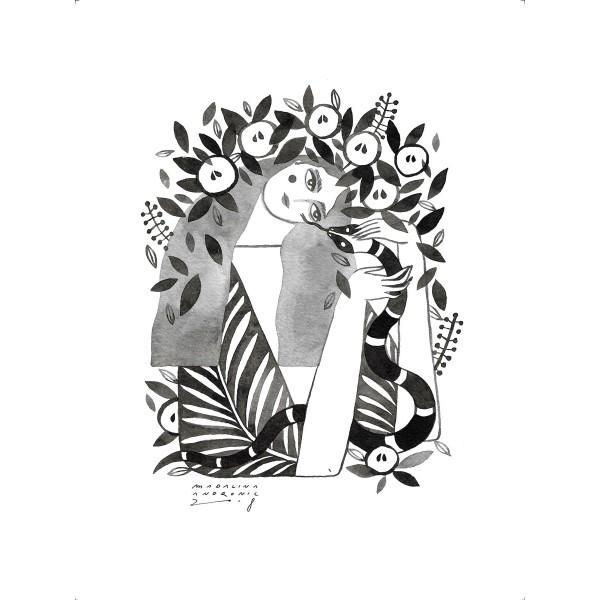 EVA / Inktober print