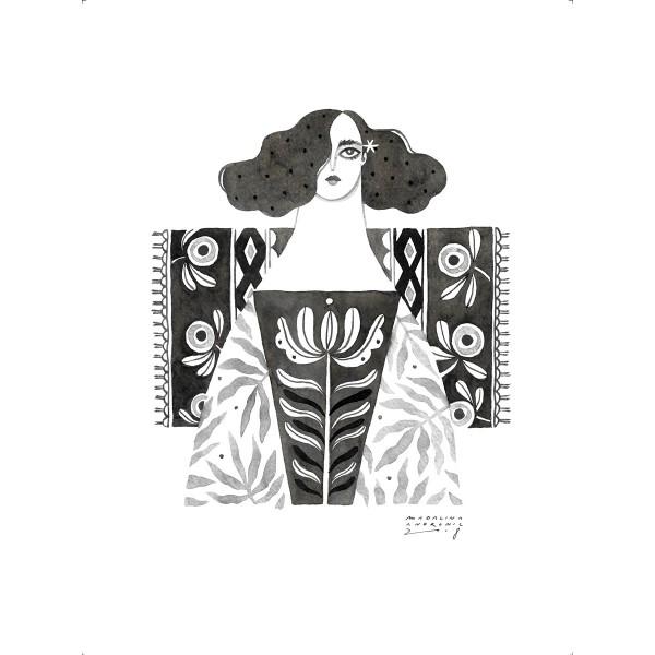 MARTA / Inktober print