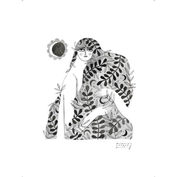 SIMINA / Inktober print