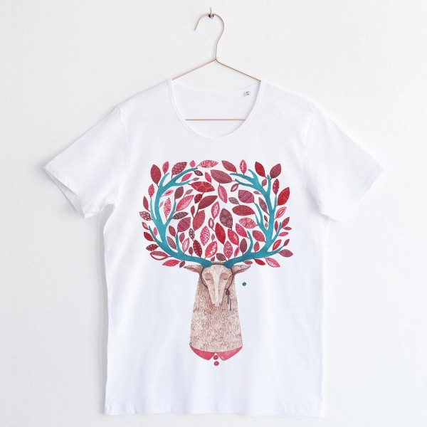 """DEER"" / SCOOP NECK TSHIRT"