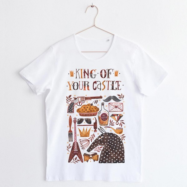 """KING"" / SCOOP NECK TSHIRT"