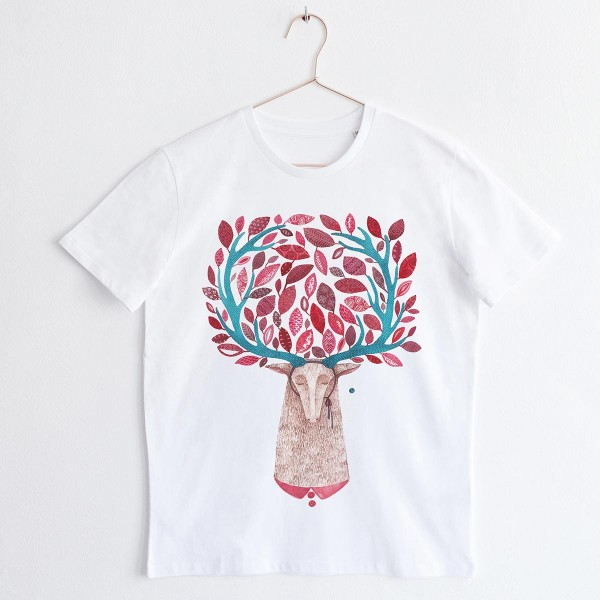 DEER / for HIM / round neck Tshirt