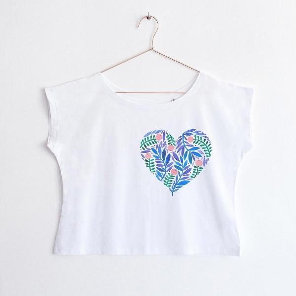 BLUE HEART / oversized Tshirt