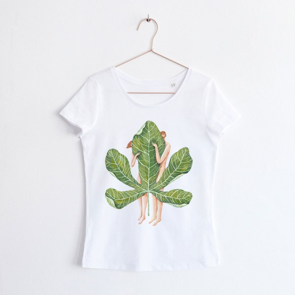 """ADAM&EVE""/ SCOOP NECK TSHIRT"