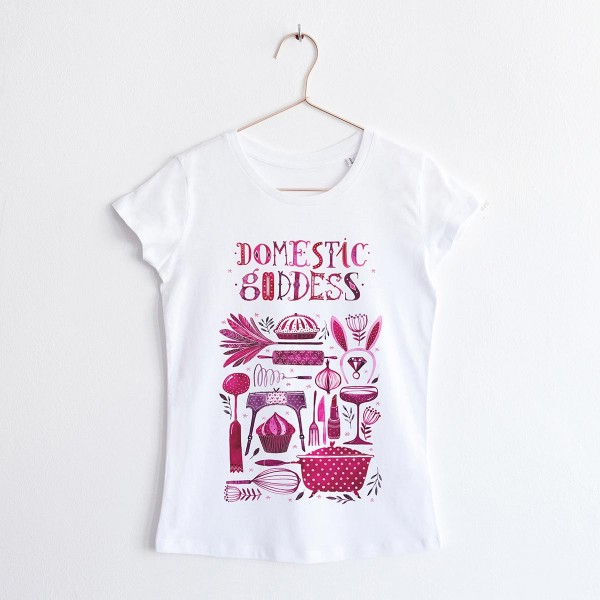 """DOMESTIC GODDESS"" / ROUND NECK TSHIRT"