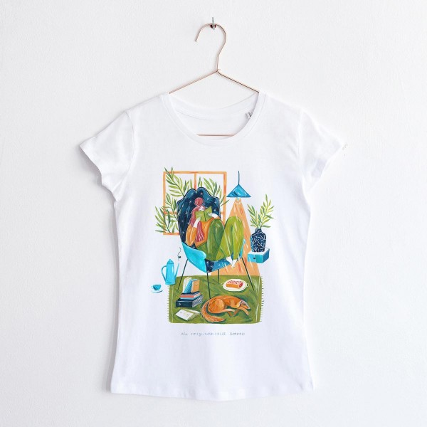 GODDESS OF COSY AND CHILL / round NECK TSHIRT