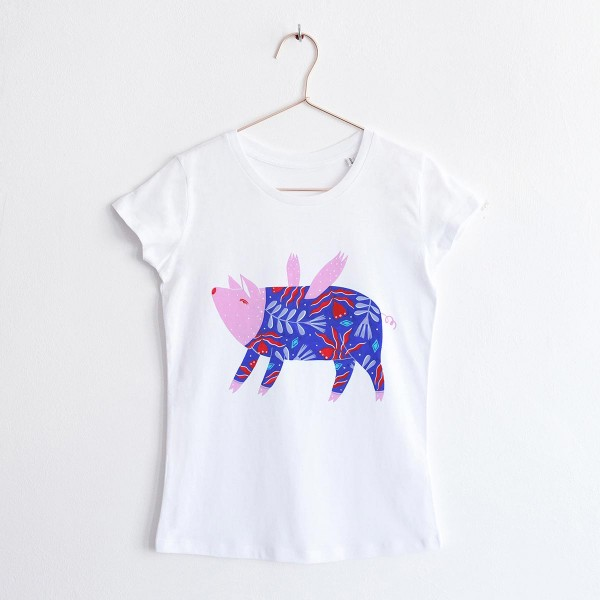 """FLYING PIG"" / ROUND NECK TSHIRT"
