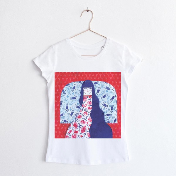 """FAIRY OF THE FLOWERS"" / ROUND NECK TSHIRT"