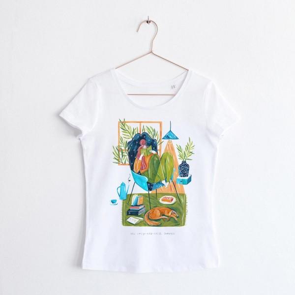 GODDESS OF COSY AND CHILL / SCOOP NECK TSHIRT