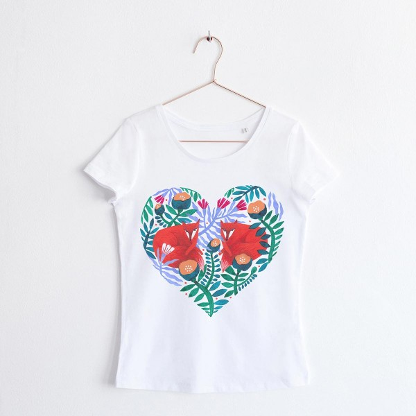"""FOXY HEART"" / SCOOP NECK TSHIRT"