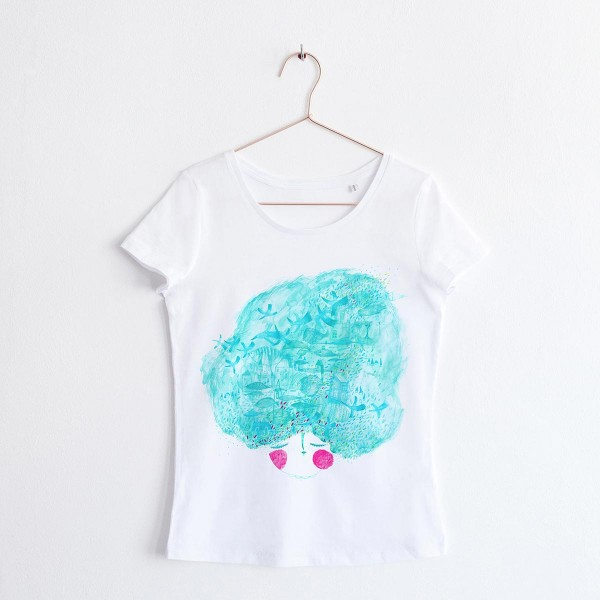 """MINT LADY"" / SCOOP NECK TSHIRT"