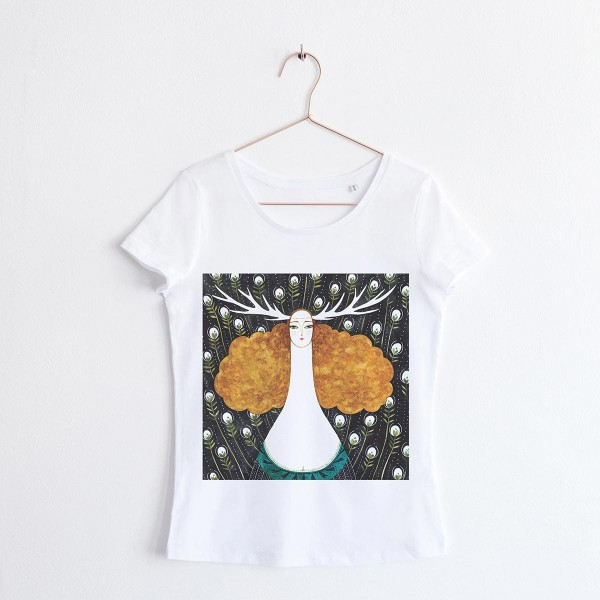 """FAIRY OF THE WILD"" / SCOOP NECK TSHIRT"