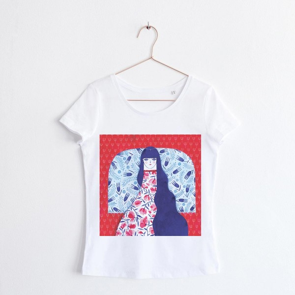 """""""FAIRY OF THE FLOWERS"""" / SCOOP NECK TSHIRT"""