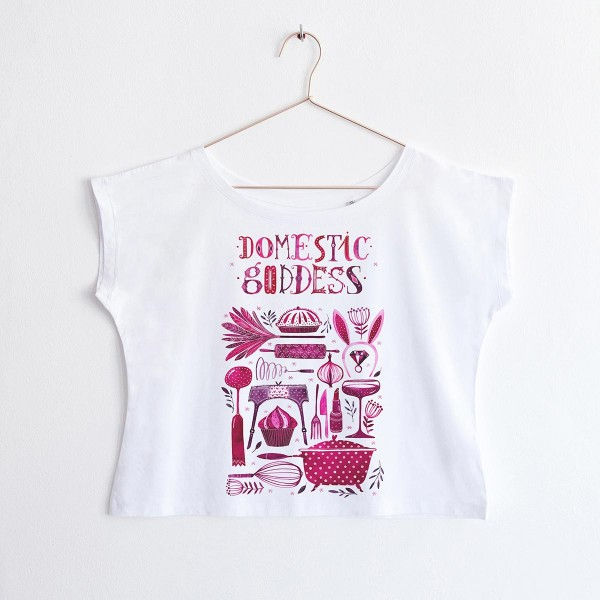 """DOMESTIC GODDESS"" / OVERSIZED TSHIRT"