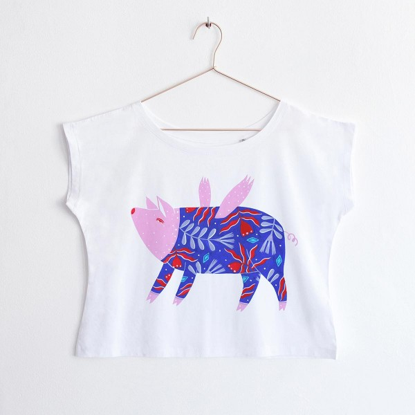 """FLYING PIG"" / OVERSIZED TSHIRT"