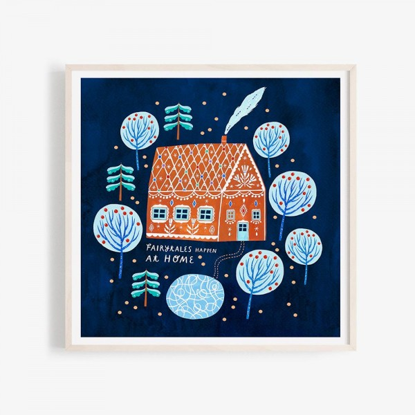 Fairytales Happen At Home Print