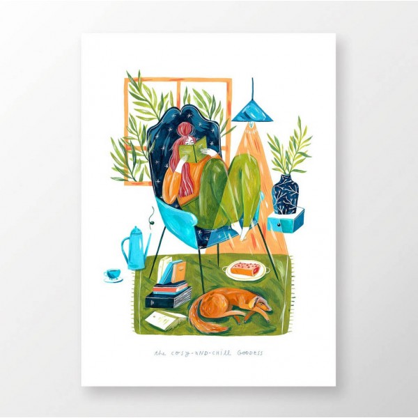 GODDESS OF COSY AND CHILL / print
