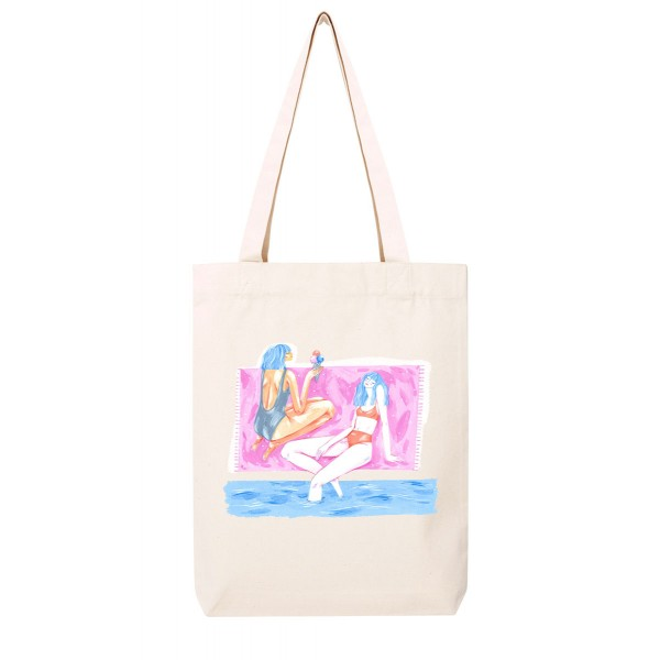 ICE CREAM GIRLS / medium tote bag