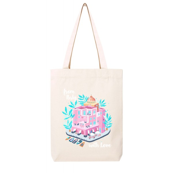 FROM ITALY, WITH LOVE / medium tote bag