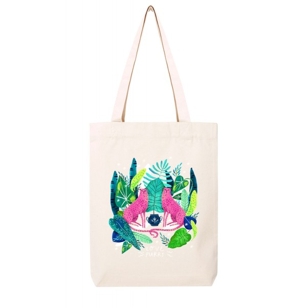 LOVE PURRS / medium tote bag