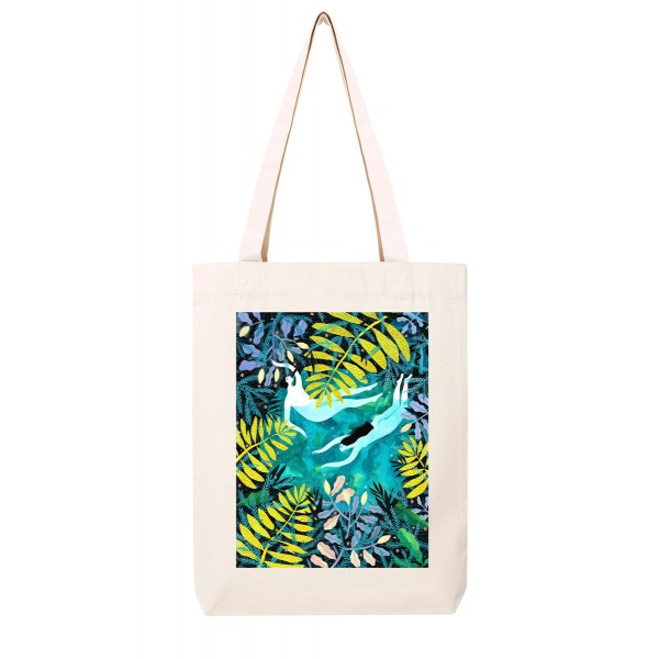 NIGHTSWIMMING / medium tote bag
