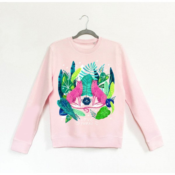 LOVE PURRS / Candy Pink Sweatshirt
