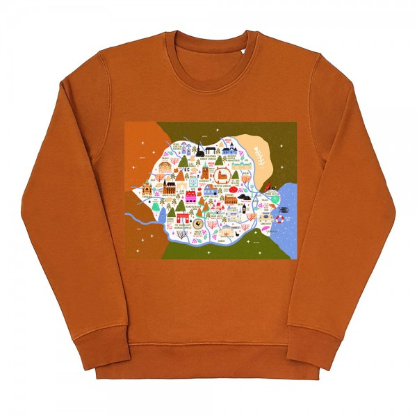 Map of Romania Sweatshirt